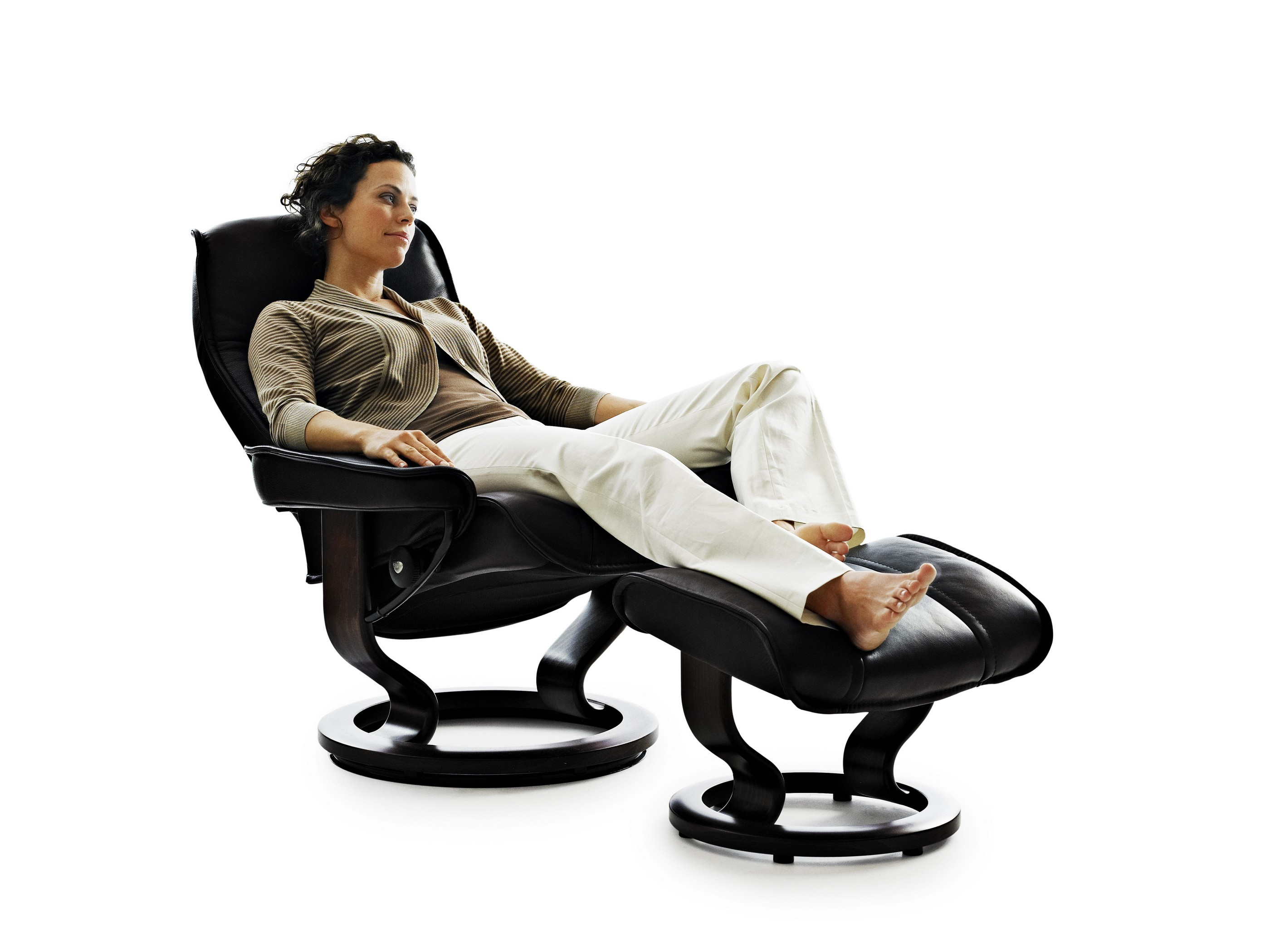 Stressless Chairs Reviews Ekornes Stressless Senator / Governor Recliner with Matching Ottoman