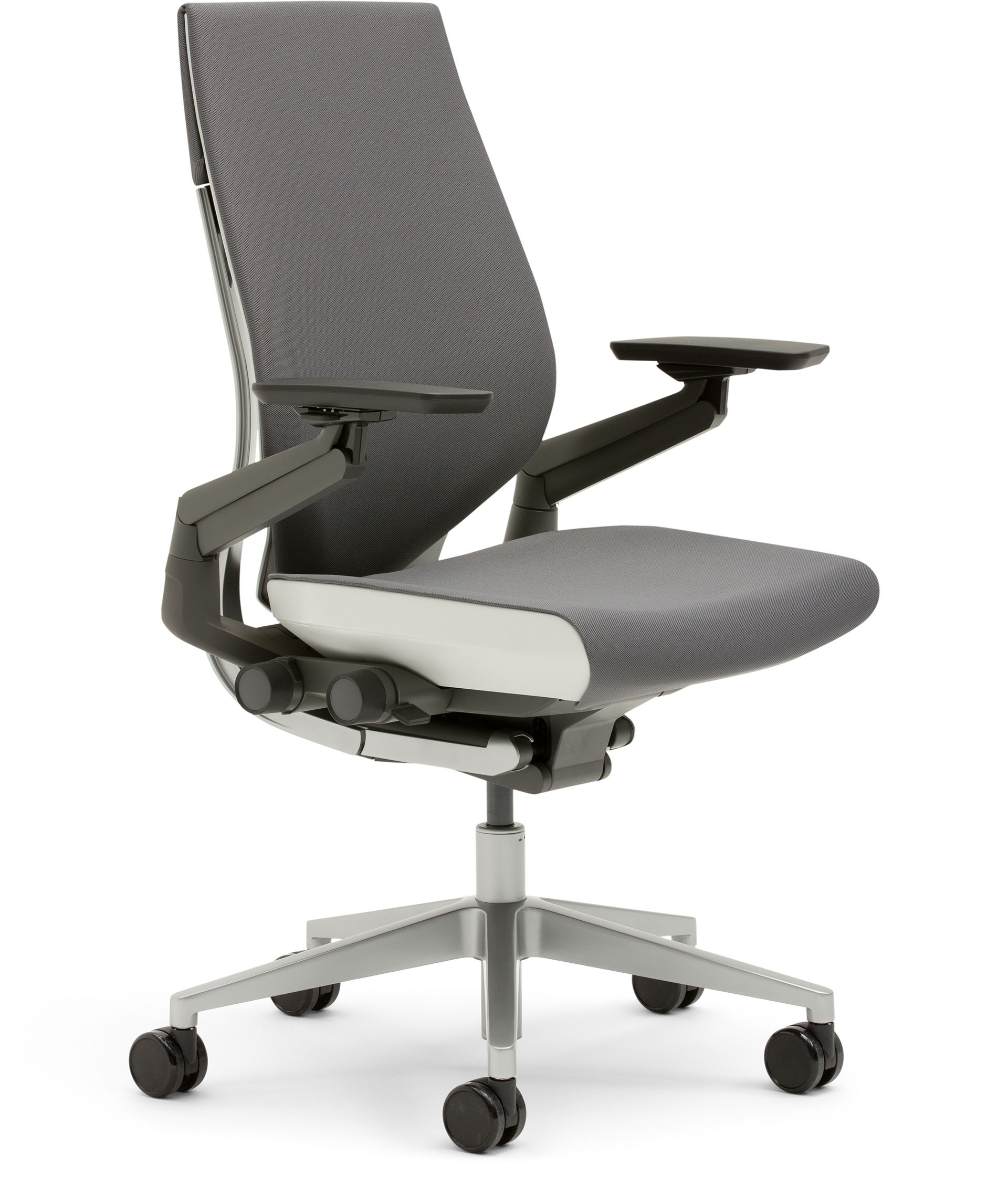 steelcase gesture office chair with wrapped back front side graphite