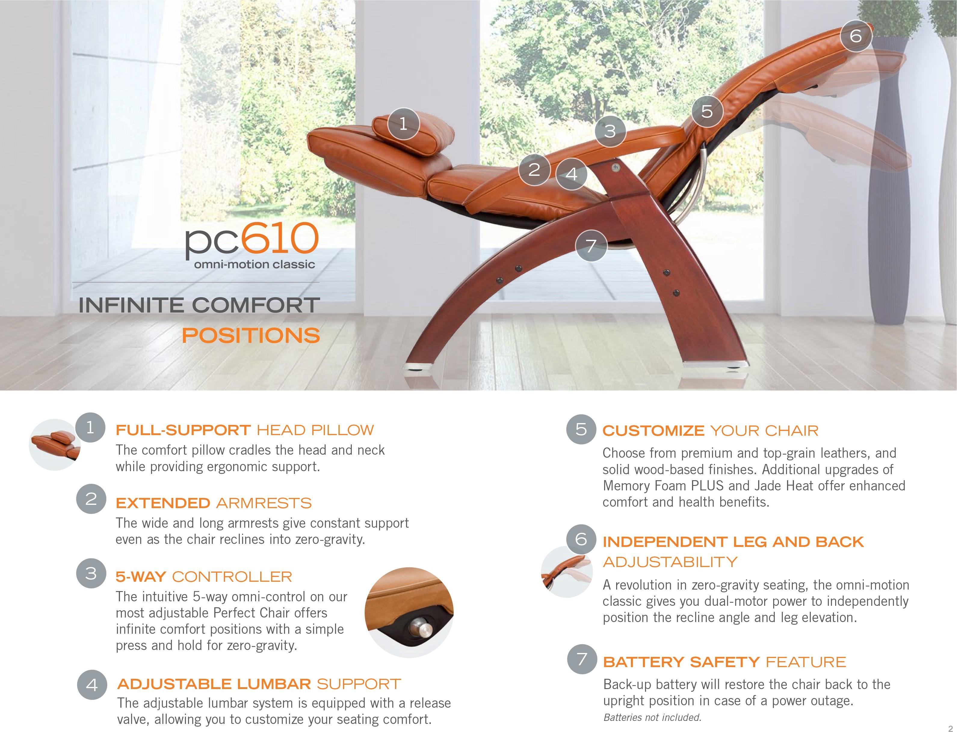 New Pc 610 Power Omni Motion Perfect Chair Zero Gravity