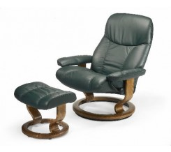 Ekornes Stressless Ambassador Recliner with Ottoman
