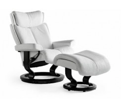 Ekornes Stressless Magic Large Recliner with Ottoman