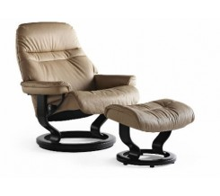 Ekornes Stressless Sunrise Large Recliner with Ottoman