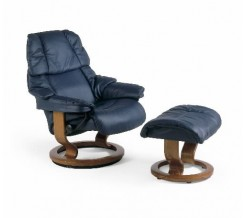 Ekornes Stressless Tampa Recliner with Ottoman