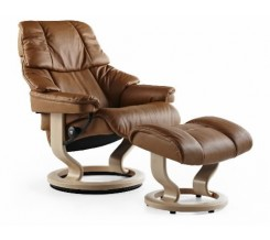 Ekornes Stressless Vegas Recliner with Ottoman