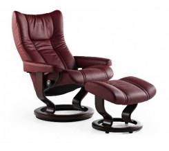 Ekornes Stressless Wing Recliner with Ottoman